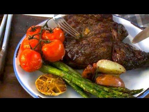 Rib Eye Steaks & Garlic Veggies with Nathan Lippy - Grill This