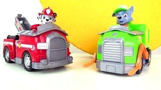 Развивающее видео про Щенячий патруль: рапаковка игрушки Рокки