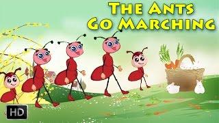 The Ants Go Marching One By One Hurrah Hurrah - Nursery Rhymes - Karaoke (Sing Along)