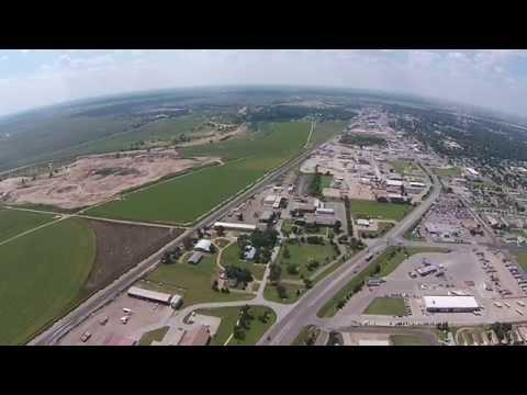 Garden City, KS, East side, Aerial View