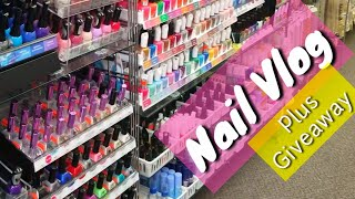 🚩Nail Vlog with Me | Gym • Nail art supplies • Family • Giveaway Prizes