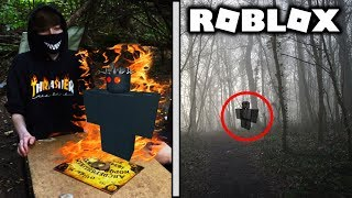 Speaking With NOLI & Exploring Haunted Woods In Real Life! (ROBLOX) *CREEPY*