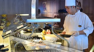 MSC Divina Food - Breakfast at the Buffet & Main Dining Room (4K)