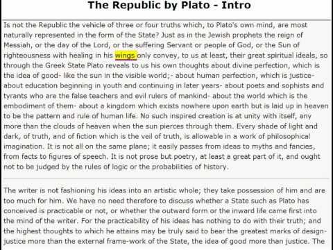 The Republic by Plato - Introduction