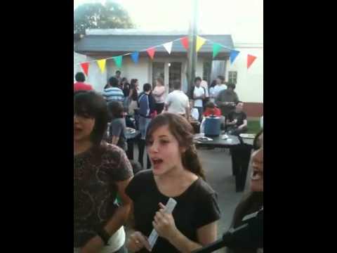 Streetprayer open air singing Quilmes Argentina