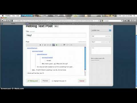 Tutorial on reblogging