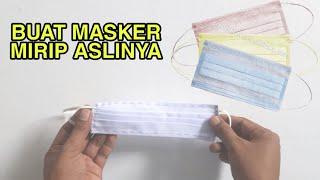 Cara membuat masker kain | mencegah virus corona