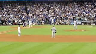 Justin Turner Walk Off 3 Run Homerun NLCS Game 2 Against Chicago Cubs. Go Dodgers!!!