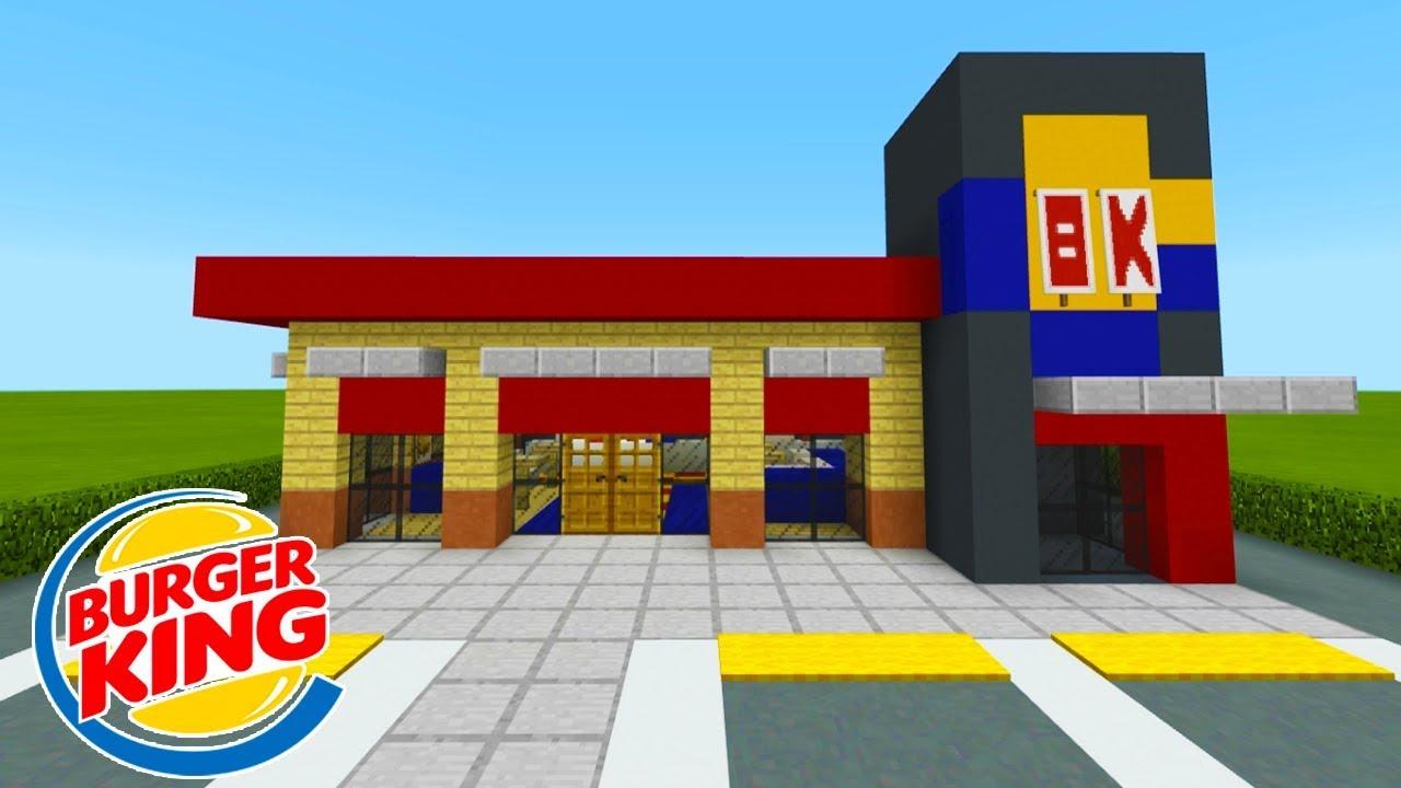 Minecraft Tutorial: How To Make A Burger King (Restaurant ...