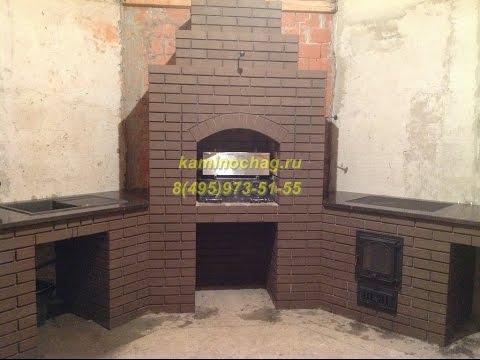 kaminochag.ru 8(495)973-51-55 Угловое барбекю в беседке