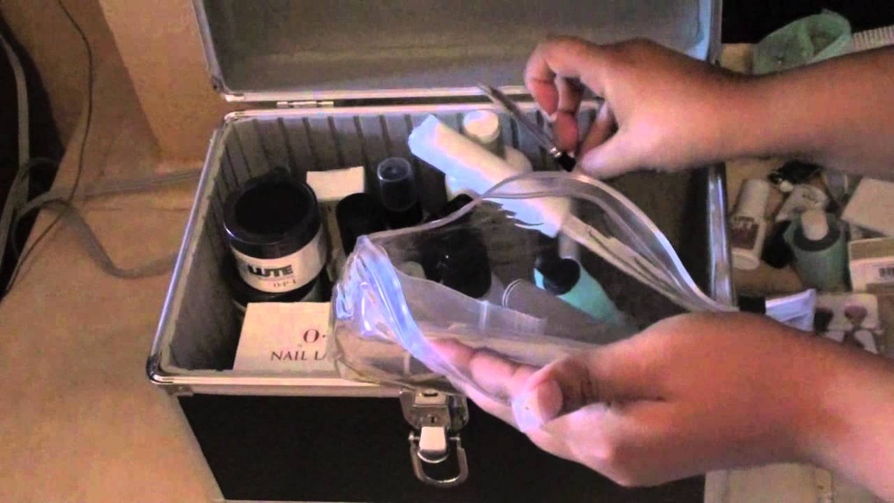 What is in my.....Opi Nail school kit - YouTube