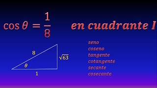 Calculate trigonometric functions from a value (First quadrant)