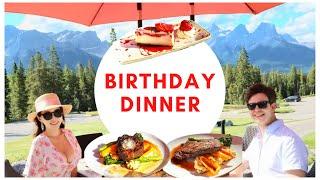 국제커플 알버타 최고의 스테이크 하우스 생일 디너 캐나…