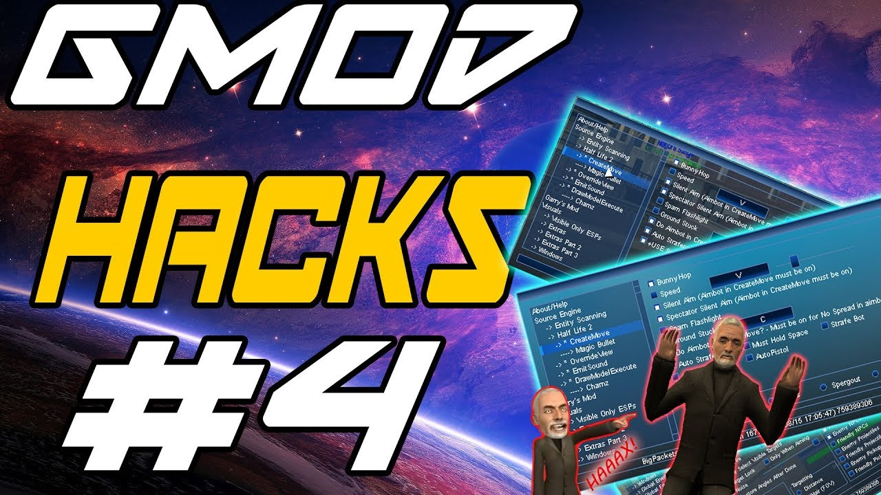 GMOD HACKS #4 BigPackets (AIMBOT, BUNNYHOP, ESP, C++) CAC UNDETECTABLE    2017