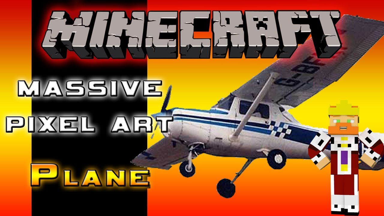 Massive Pixel Art Build 7 Low Flying Plane