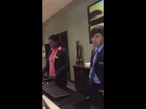 Hilton front desk worker swears at guest