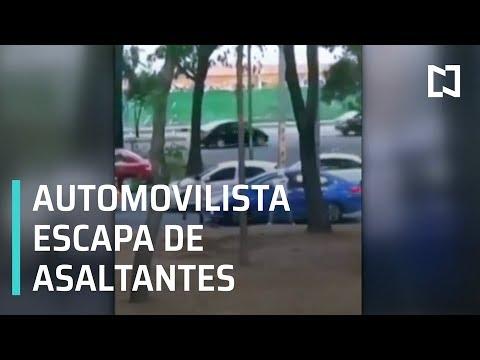 Automovilista se defiende y evita asalto en CDMX - Las Noticias con Danielle