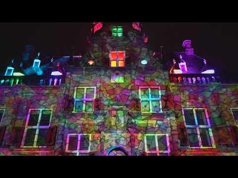 Projectie stadhuis Bolsward - Friese Meren Project
