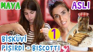 Maya ve Aslı İtalyan Bisküvisi Biscoti Yaptı - 1. Bölüm | Bizim Aile