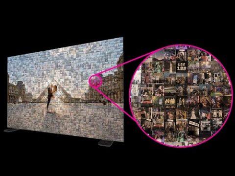 Photo Mosaic Wall Time lapse