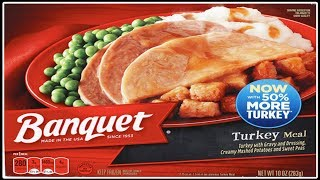 Banquet's $1.24 Frozen Turkey Dinner!! - WHAT ARE WE EATING?!?! - The Wolfe Pit