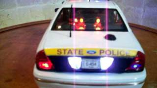 Illinois State Police K-9 Crown Vic With Lights And Siren