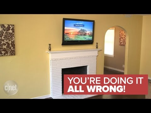 Why A Tv Should Never Be Mounted Over A Fireplace You Re Doing It All Wrong Youtube