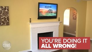 Why a TV should never be mounted over a fireplace