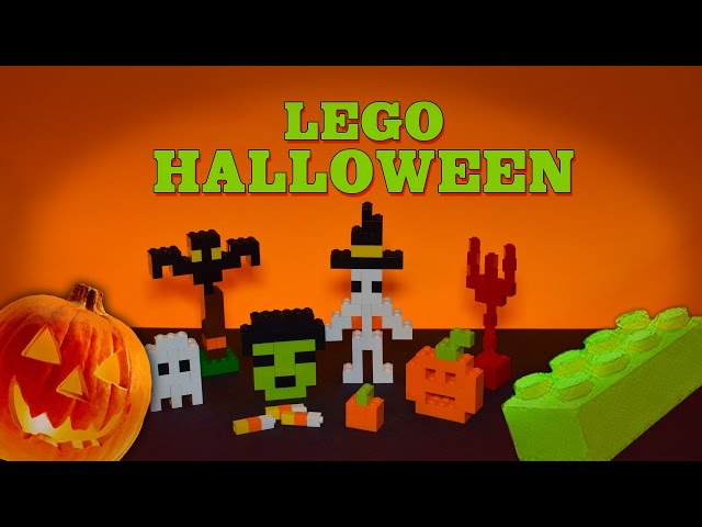 DIY LEGO Halloween Figures from regular parts. Zombie Pumpkin Skeleton Ghost and more!