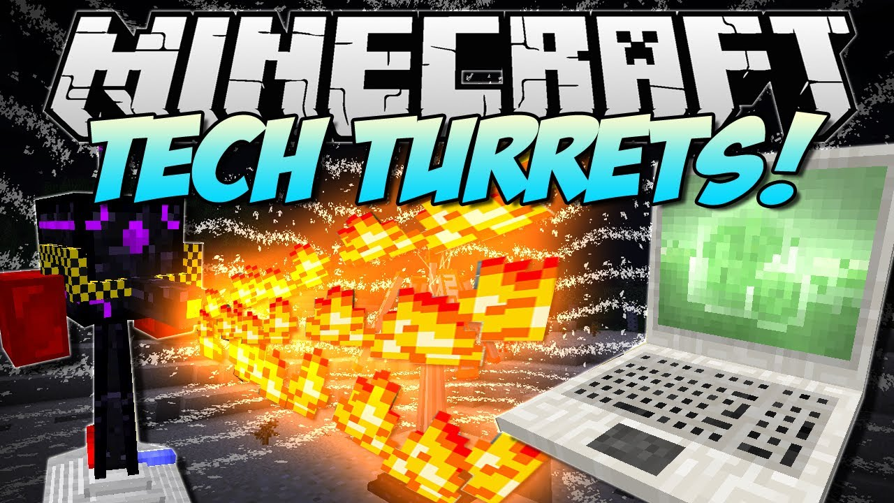 Minecraft   TECH TURRETS! (Robots that protect your base!)   Mod Showcase [1.5.2]