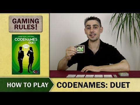Codenames: Duet Board Game - Video