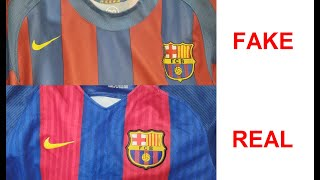 Messi barcellona jersey real vs fake ...