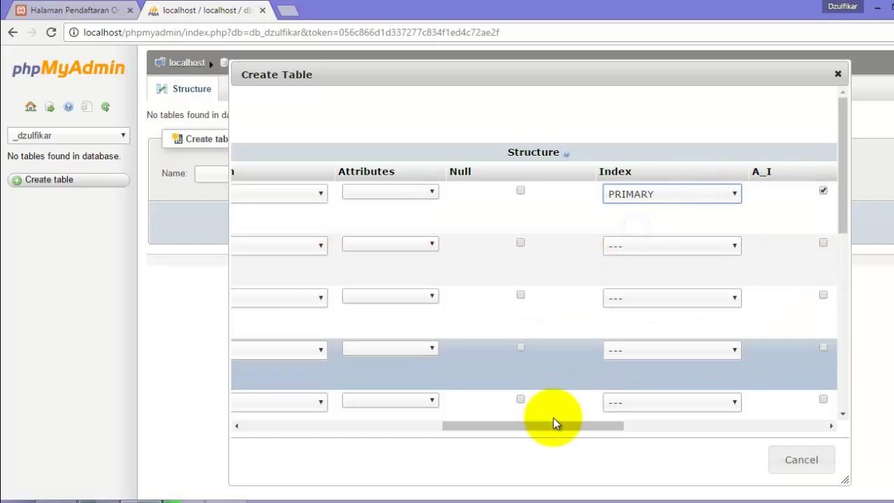 tutorial mudah membuat form register dengan PHP dan Mysql