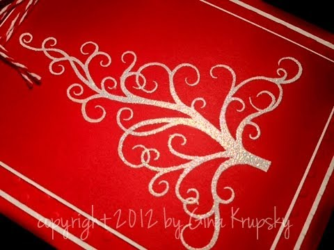 Mixing Glitter with Embossing Powder