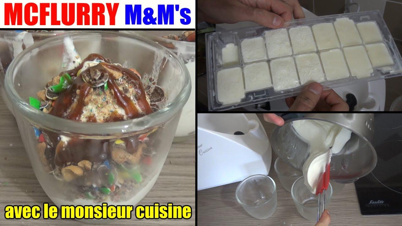 mcflurry m&ms caramel recette monsieur cuisine silvercrest lidl