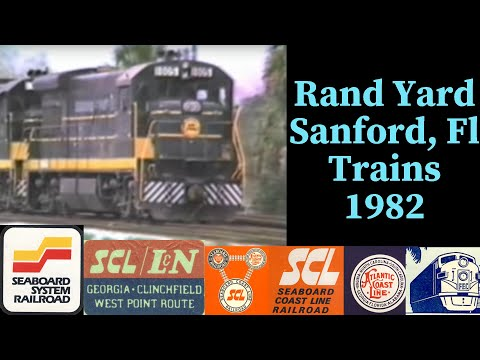 RANDS YARD, SANFORD, FLORIDA, SCL, SEABOARD COAST LINE 1982, RAILROAD TIME CAPSULE
