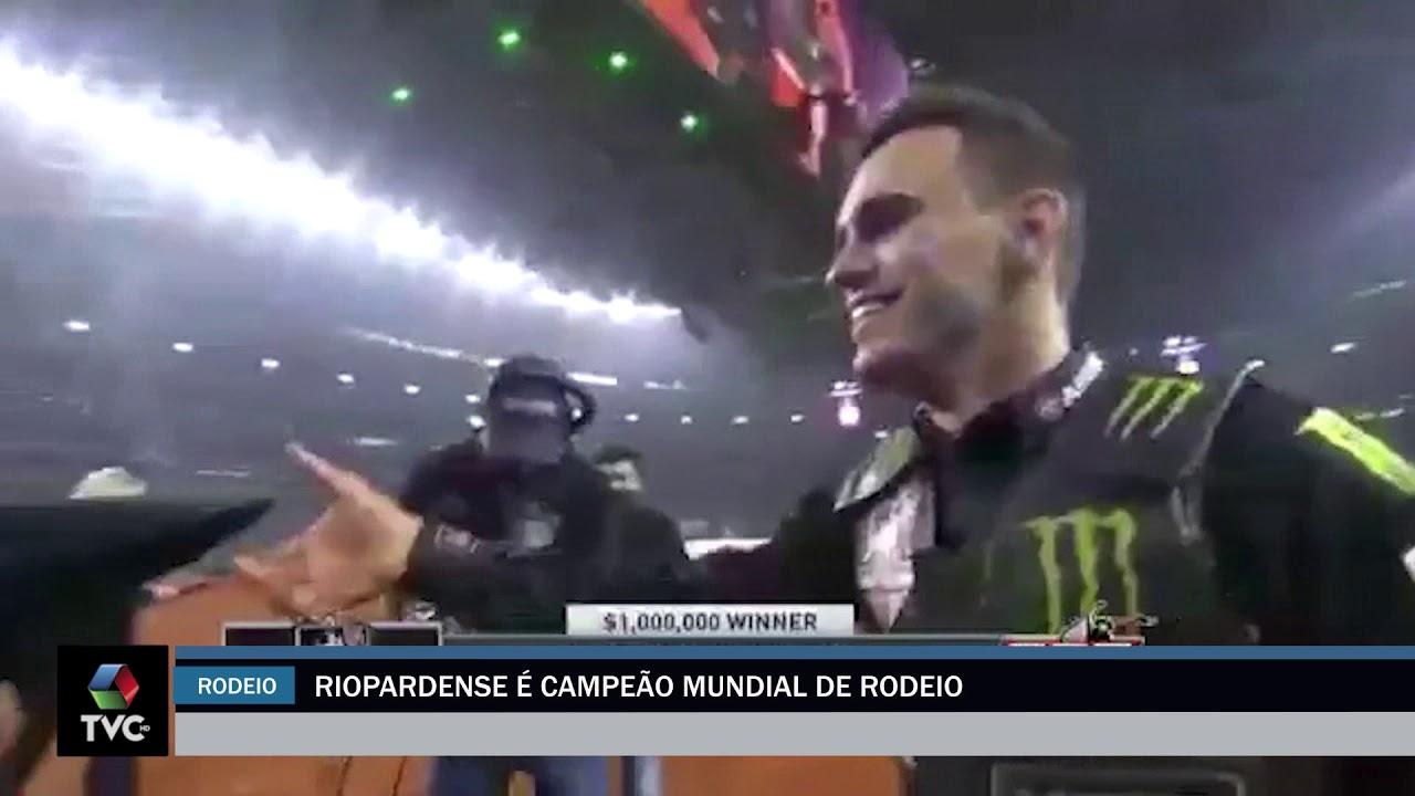 Riopardense é campeão mundial de rodeio