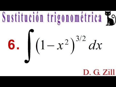 Integración por sustitución trigonométrica. Zill 7.5_6