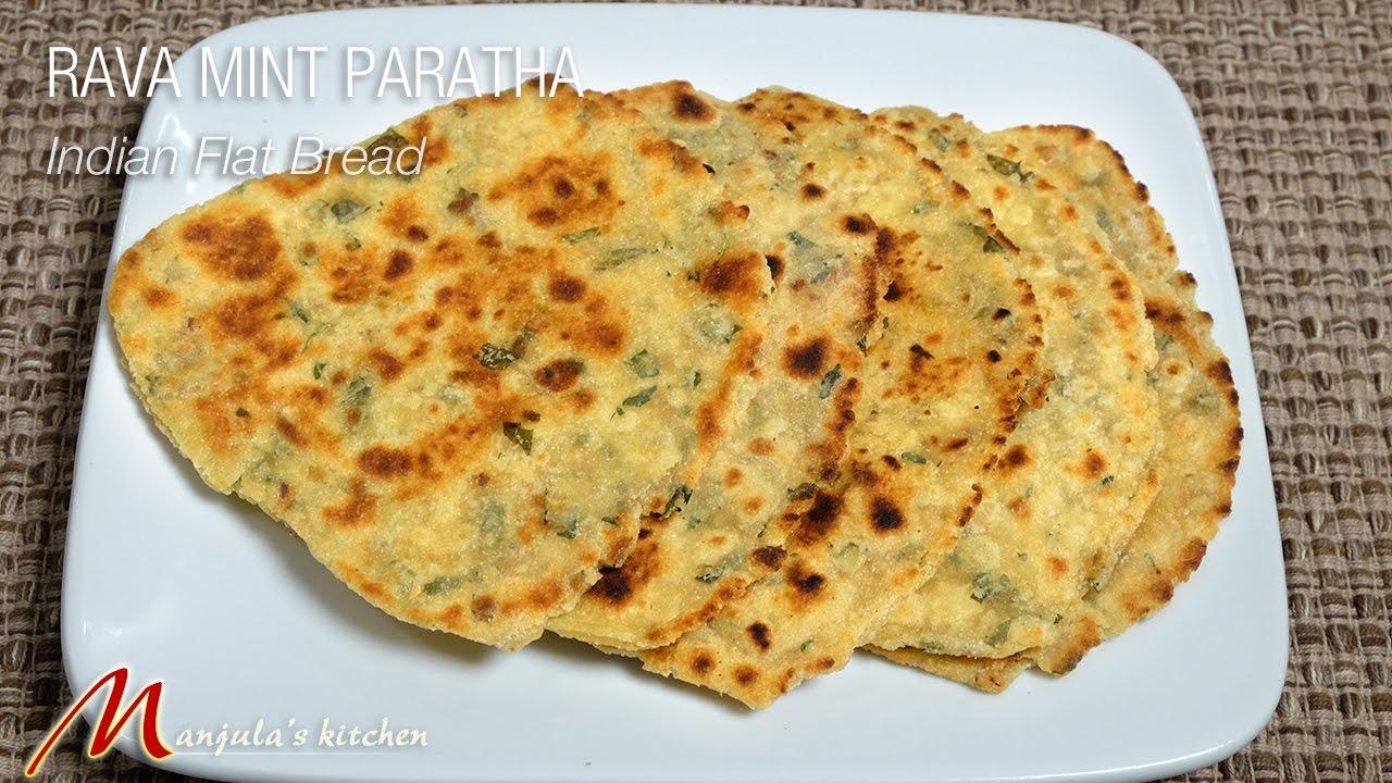 Rava Mint (Podina) Paratha - Indian Flat Bread