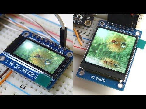 IPS-дисплеи на контроллерах ST7789 и ST7735