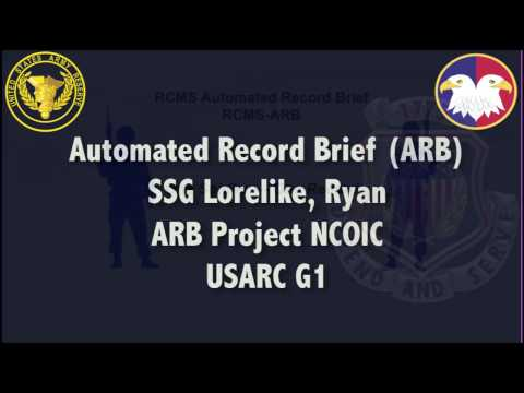 RCMS - Automated Record Brief (ARB)