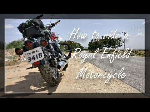 How to ride a motorcycle  | Royal Enfield |
