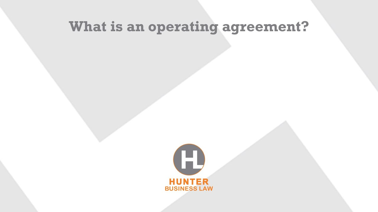 What Is An Operating Agreement