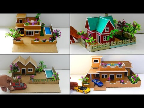 How To Make 6 Modern Cardboard Mansion Villa Houses #90 Compilation | Easy Crafts Ideas