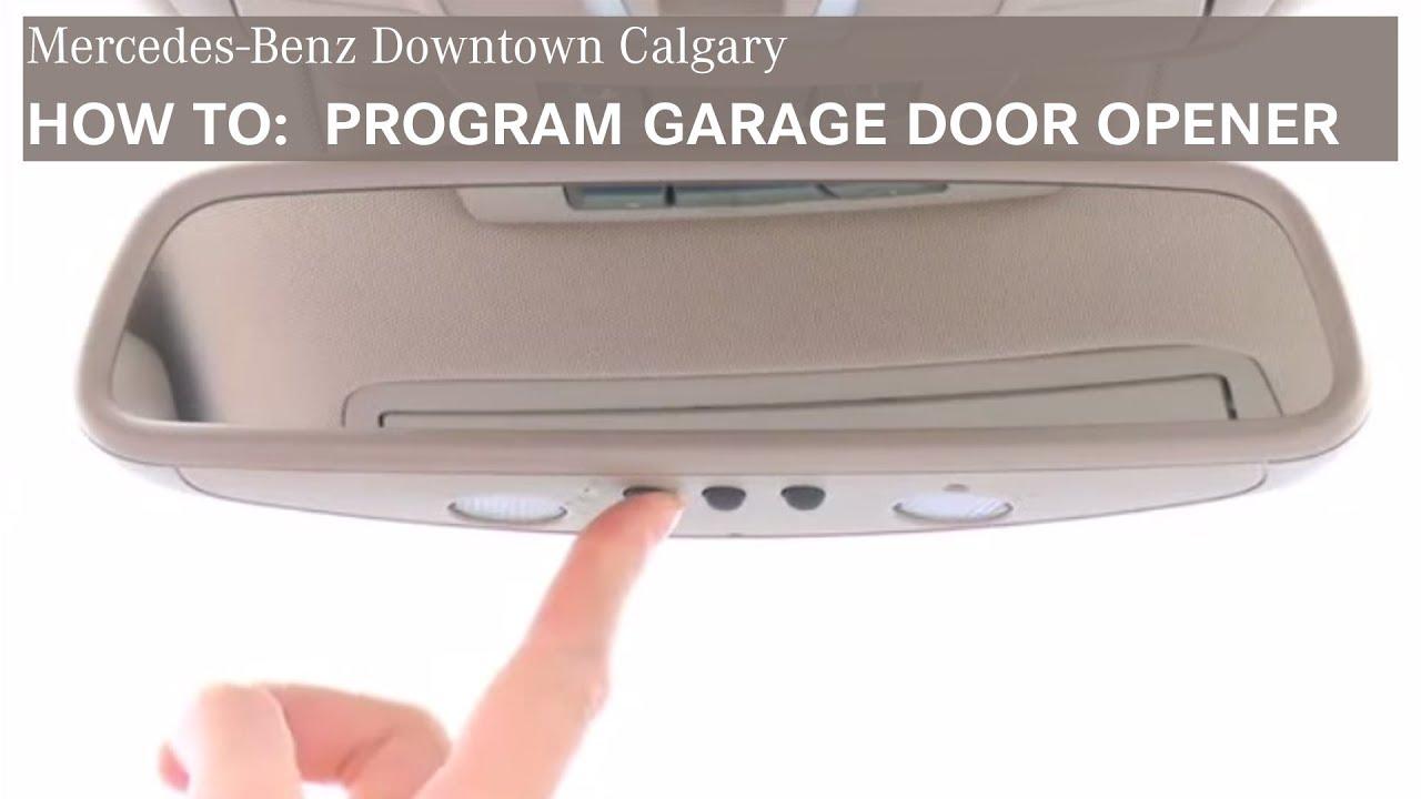 Mercedes Benz Garage Door Opener Program Door Opener Downtown