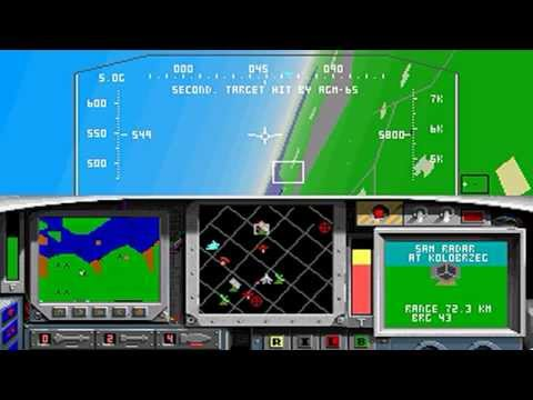 F-15 Strike Eagle II (PC/DOS) Ace Difficulty, Central Europe!