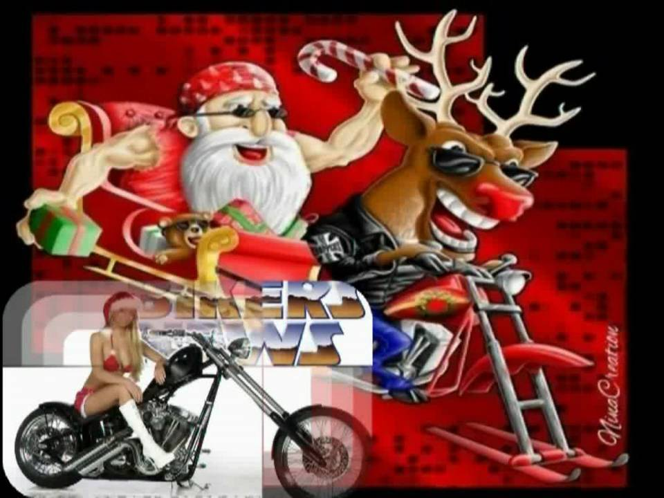 Bon Jovi-Wanted Dead or Alive(HD Slide-Christmas Biker Babes ...