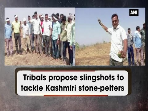 Tribals propose slingshots to tackle Kashmiri stone-pelters  - Madhya Pradesh News