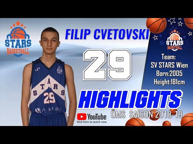 Stars Highlights Factory : FILIP CVETKOVSKI  ÖMS Saison 2018-19