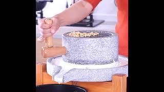 해외 인기아이템 미니 맷돌 콩국수 두부 전통맷돌 멧돌